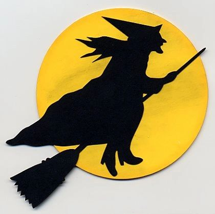 Flying Witch Die-Cut