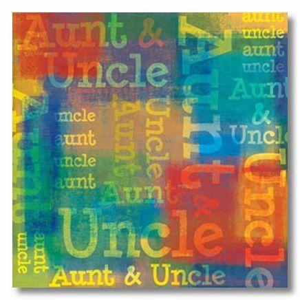 Aunt & Uncle Collage 12x12 Paper