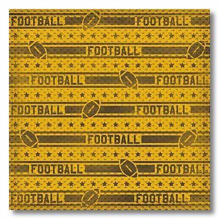 Football Stripes 12x12 Paper