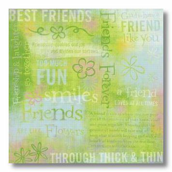 Friends Collage 12X12 Paper