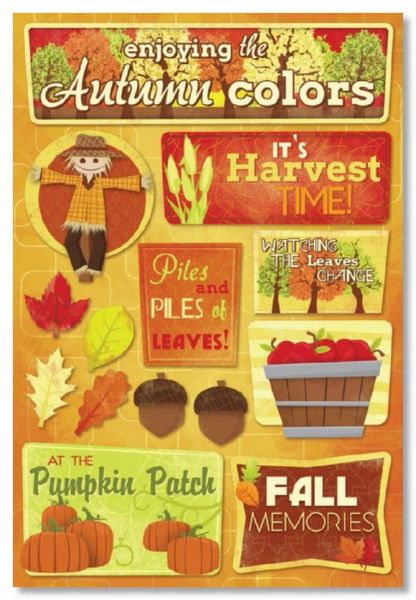 Autumn Cardstock Colors Sticker