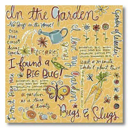 Garden Collage 12x12 Paper