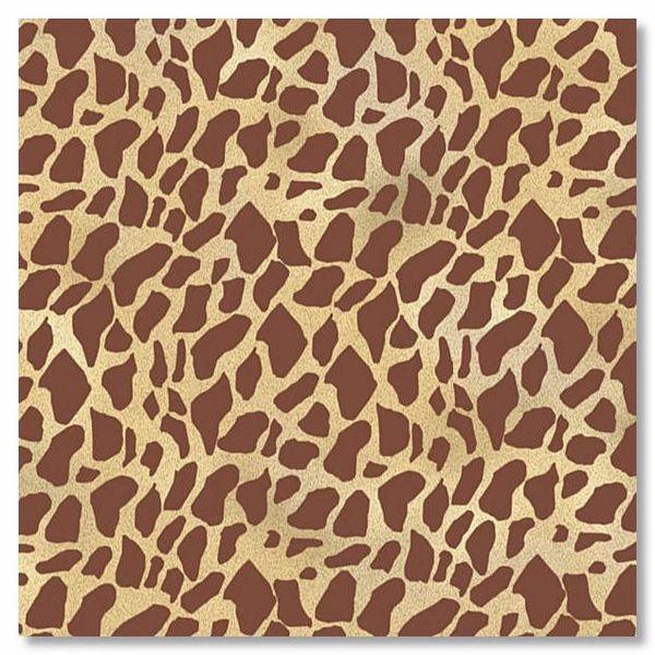 Giraffe Flocked 12x12 Paper