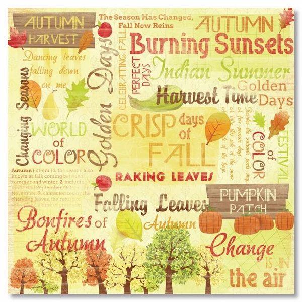Autumn Harvest Collage 12x12 Paper
