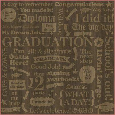 Grad Collage 12x12 Paper
