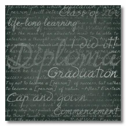 Grad Words 12x12 Paper