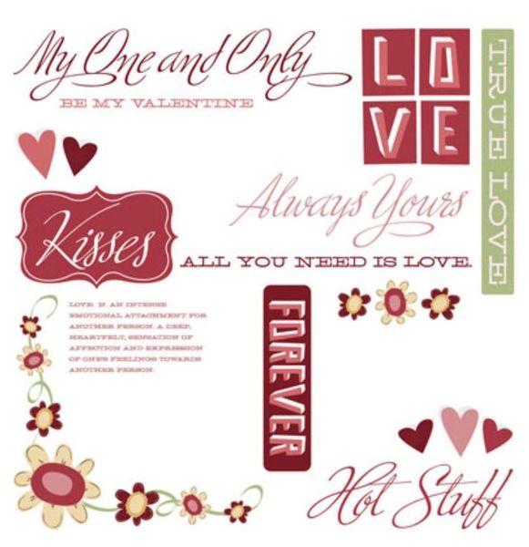 Valentines Rub-Ons