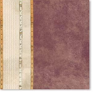 Vertical Rulers 12x12 Paper