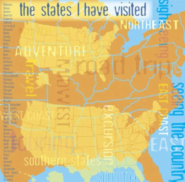 US Map Collage 12x12 Paper