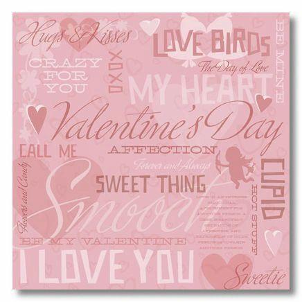 Valentine Love Collage 12x12 Paper