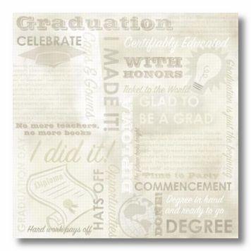 Graduation Collage 12X12 Paper