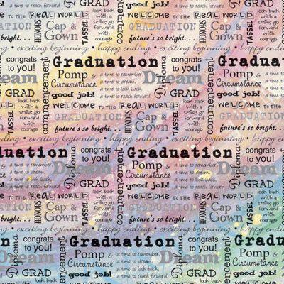 Graduation Word 12x12 Paper
