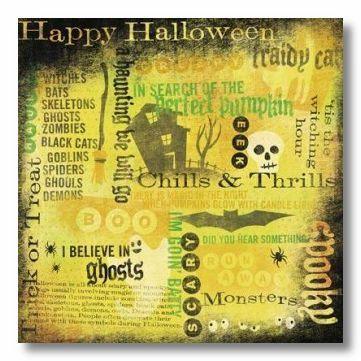 Halloween Hodge Podge 12x12 Paper