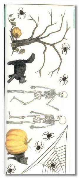 Halloween Skeletons, Pumpkins & Cats Stickers