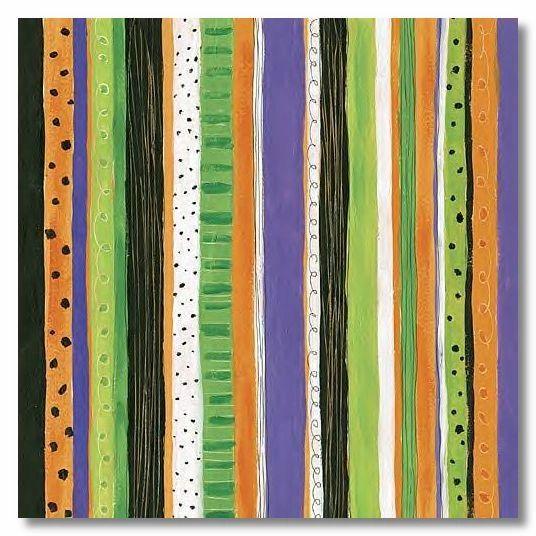 Halloween Stripes 12x12 Paper