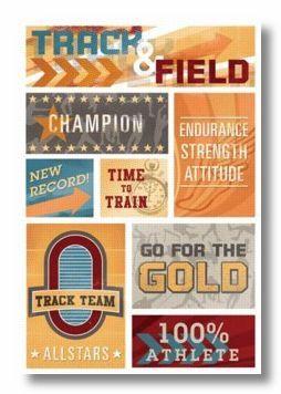 Track & Field Cardstock Sticker