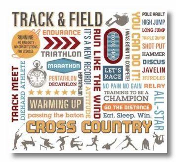 Track & Field Rub-On