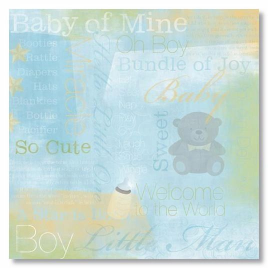 Baby Boy Collage 12x12 Paper