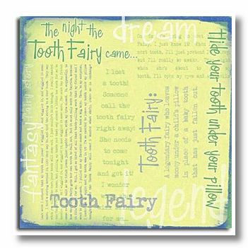Tooth Fairy Words 12X12 Paper