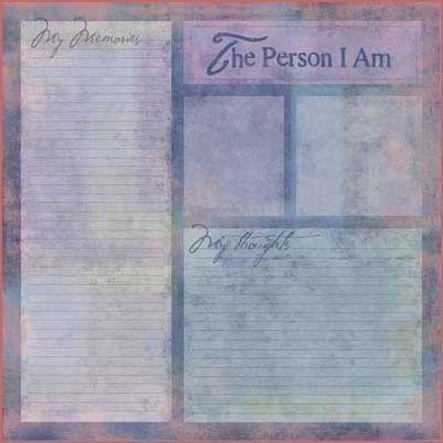 The Person I Am 12x12 Paper