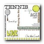 Tennis Rub-On