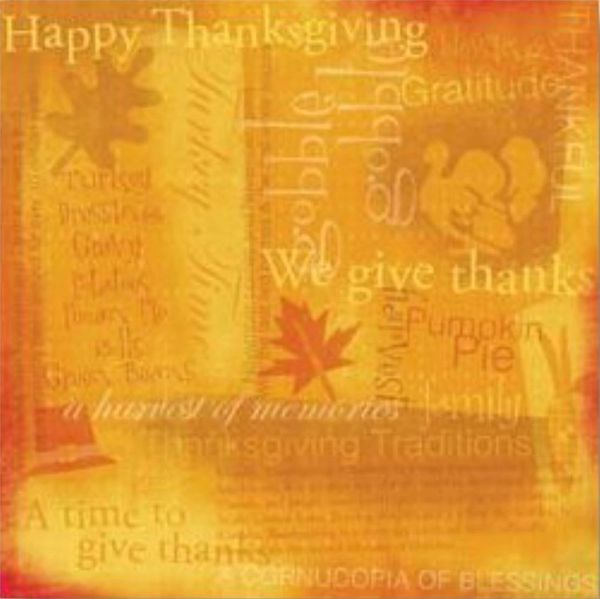 Thanksgiving Collage 12x12 Paper