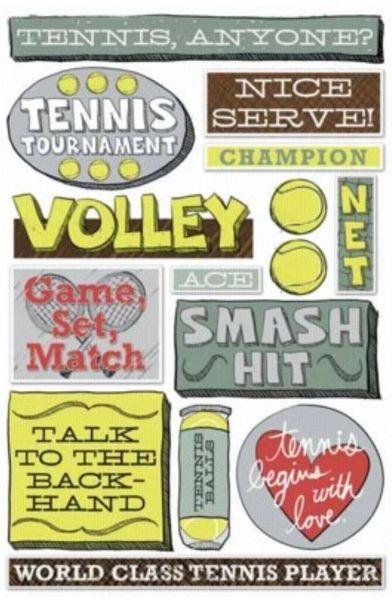 Tennis Cardstock Sticker