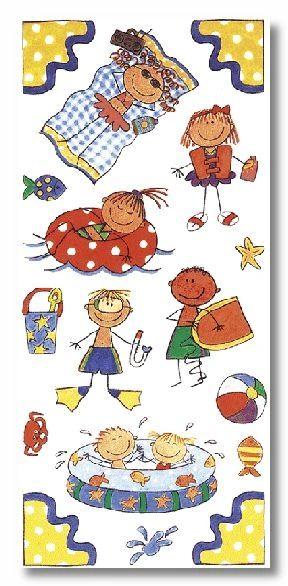 Summer Kids Stickers
