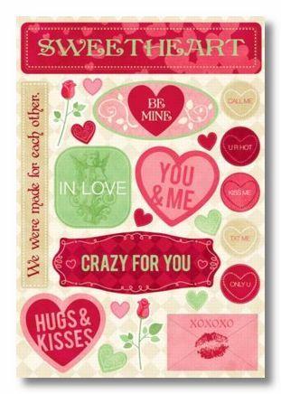 Sweetheart Cardstock Sticker
