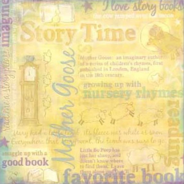 Story Time Collage 12x12 Paper