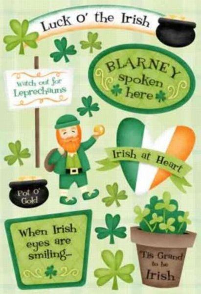 St Patrick's Day Cardstock Sticker