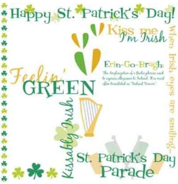 St Patrick's Day Rub-Ons