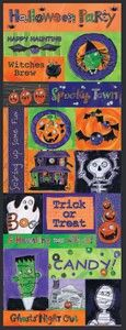 Spookytown Embossed Glitter Stickers