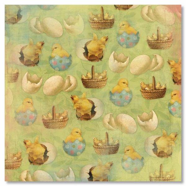 Baby Chicks 12x12 Paper