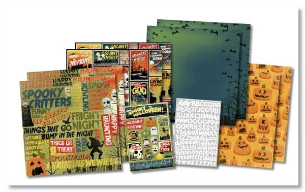 Spooky Cinema Scrapbook Kit