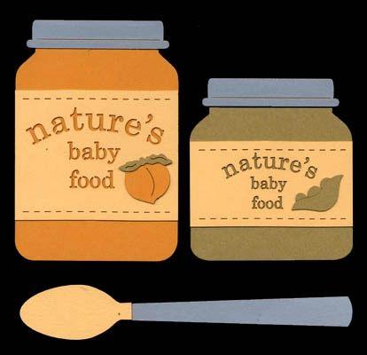 Baby Food Jars Die-Cut