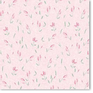 Soft Pink Flowers 12x12 Paper
