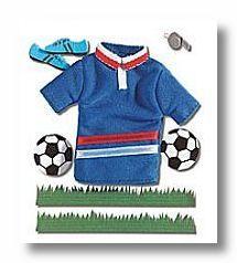 Soccer Dimensional Sticker