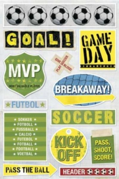 Soccer Balls Cardstock Sticker