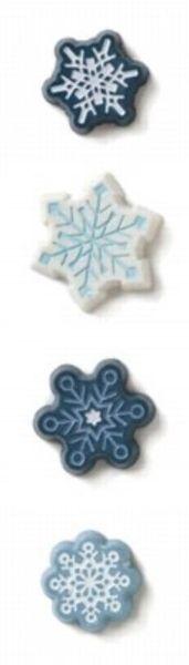 Snowflake Resin Brads