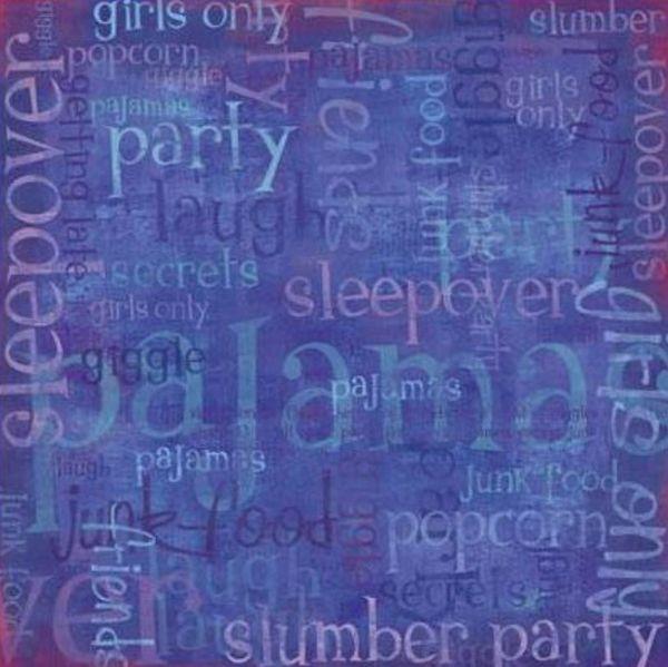 Sleepover Collage 12x12 Paper