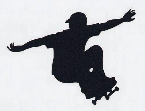 Skateboarder Die-Cut