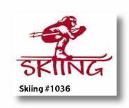 Skiing Die-Cut