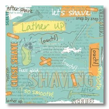 Shaving Collage 12X12 Paper