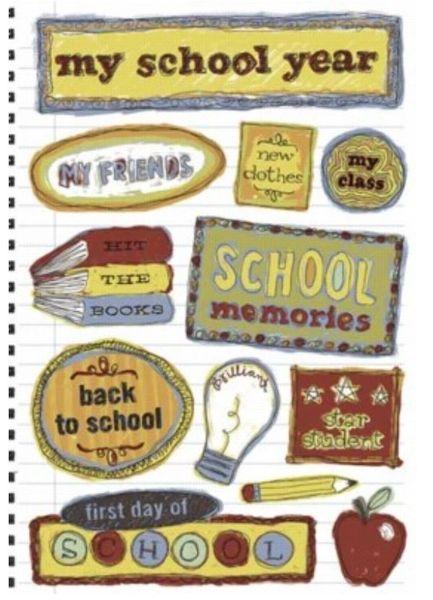 School Memories Cardstock Sticker