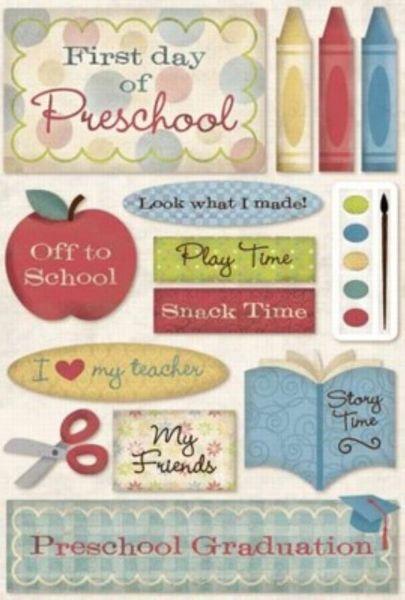 School Cardstock Stickers