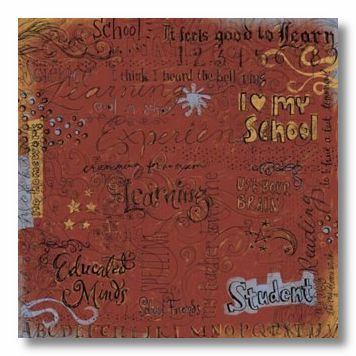 School Collage 12X12 Paper