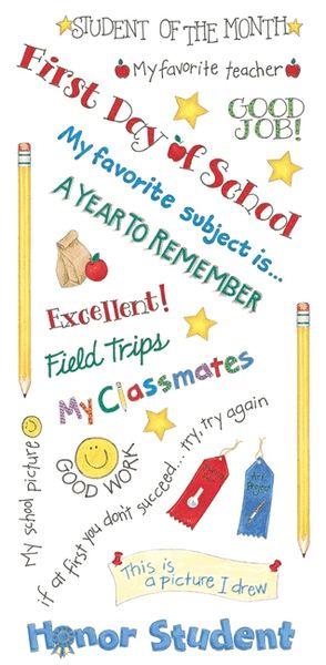 School Day Sayings Sticker