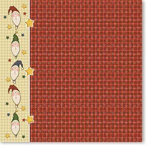 Santa Plaid 12x12 Paper