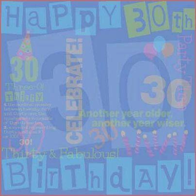 30th Birthday 12x12 Paper